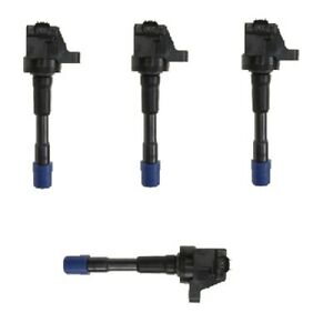 Fits Honda Civic Insight L4 (10-12) Set of 4 Rear Direct Ignition Coils IGC0080