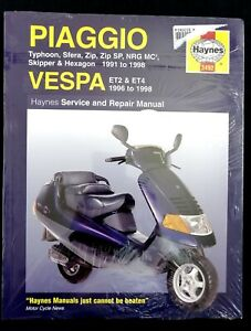 Piaggio NRG,Sfera,Zip,Skipper,Hexagon,Typhoon & Vespa ET2,ET4 Haynes 3492 '91-98