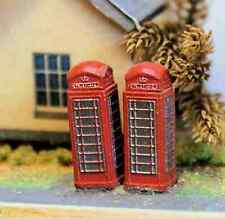 3 Telephone boxes (N scale) - Unpainted - Langley A11