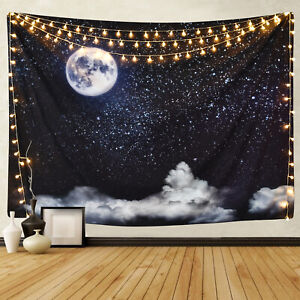 Psychedlic Night Starry Sky Tapestry New Room Bedspread Wall Hanging Tapestries