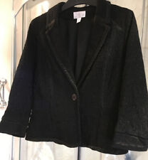 Ghost Iconic New/Vintage Black Embroidered,lined Jacket With Collar