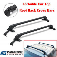 2x 115cm Car Top Roof Rack Side Rails Bars Luggage Carrier Rack Aluminium Alloy