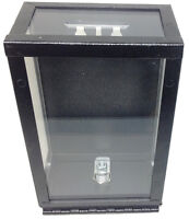TOKE BOX - NEW LOCKING METAL CLEAR TOKE BOX WITH BRACKET CASINO DEALER STYLE *