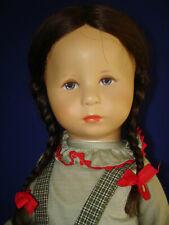 "18.5"" Kathe Kruse Brunette Haired XII 47 H Hampelchen Face Doll Germany 1984"