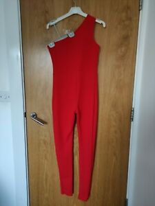 Red One Shoulder Jumpsuit I saw it first Size UK 10 Petite
