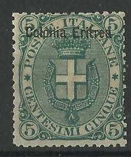 ERITREA 1893 5c GREEN MINT