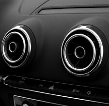 ht4you Zierringe silber Audi A3 S3 RS3 8V Lüftungsdüsen Lüftungsringe  Düsen