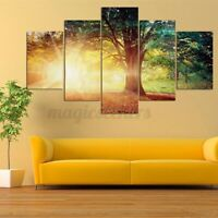 5PCS/Set Sunlight Tree Modern Canvas Oil Painting Wall Home Picture Pri