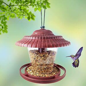 Bird Feeder for Outside, Wild Bird Feeder Hanging for Garden Yard Decoration