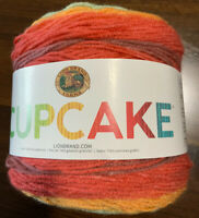 Lion Brand Yarn Cupcake Yarn, Jelly Bean, 590 yds, Light weight (3), Acrylic