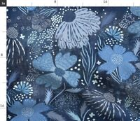 Shibori giapponese Tie Dye Blu a Righe asiatica Indigo spoonflower tessuto da giardino
