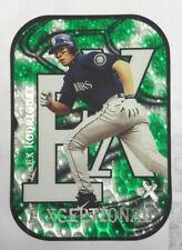 Alex Rodriguez Card /999 2000 Fleer E-X E-Xceptional Green Die Cut Insert #7