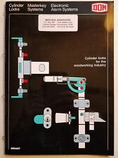 1985 DOM/Emhart LOCK CATALOG-Cylinder Locks For the Woodworking Industry-Germany