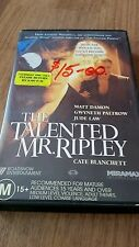 The Talented Mr. Ripley - Matt Damon, Gwyneth Paltrow Vhs Video