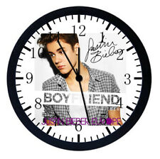Justin Bieber Black Frame Wall Clock Nice For Decor or Gifts W456