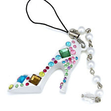 Sparkling Crystal & Fake Pearl Fashion Shoes For Mobile Phone Charms Women Girls