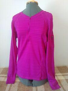 Athleta Pacifica 3/4 Zip Pullover Hot Pink Women's XL 581610