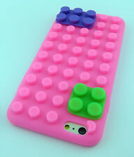 PINK LEGO TOY BLOCKS SOFT SILICONE RUBBER SKIN CASE COVER APPLE IPHONE 6 6S 4.7