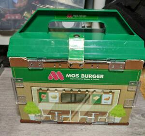 Mos Burger Shop Playset Japan Toy Fast Food Diorama Action Figure Play Set Case