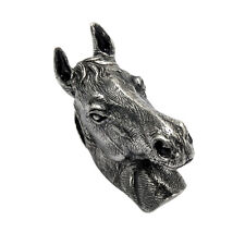 Sterling Silver 3 Dimensional Horse Head Pendant