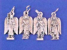 Lot 4 Archangel St Medals Michael Uriel Gabriel Raphael Silver Metal Saint Italy