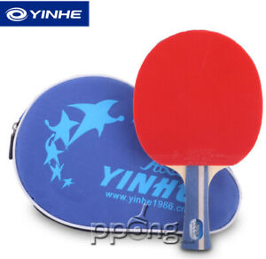 NEW for Expert, Yinhe 5 Star Table Tennis Bat ITTF Rubbers comfortable handle UK