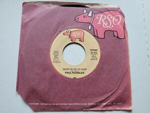 Paul Nicholas - Heaven Sur Le 7th Sol / Do Vous Voulez My Love 1977 Disco Rso NM