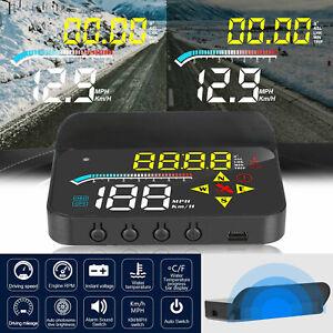 Head Up Display HUD Car GPS OBD2 Projector Digital Speedometer MPH Speed Alarm