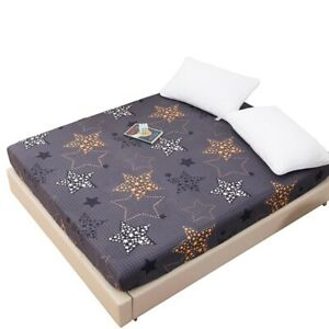 Waterproof Mattress Protector Cover Soft Breathable Hypoallergenic Printed Pad