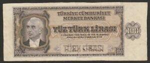 1930 (42) TURKEY 100 LIRA NOTE