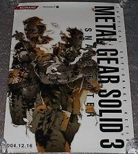 ULTRA RARE Metal Gear Solid 3: Snake Eater PS2 Promo Poster Playstation Konami