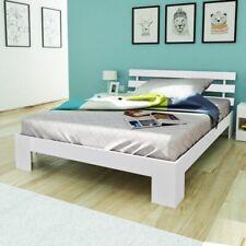 vidaXL Bed Massief Dennenhout 200x140 cm Wit Bedframe Frame Lattenbodem 2-pers