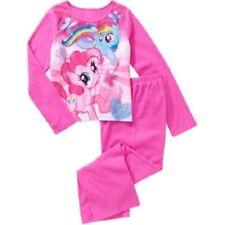 Girls My Little Pony Flannel Pajama Set Sleepwear Polyester Size 4/5 NWT