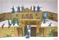 Marx Alamo Reissue Tin Litho Set With Figures