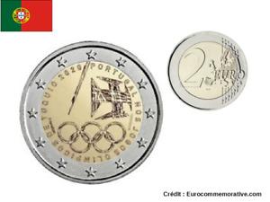 2 Euros Commémorative Portugal JO Tokyo 2021 UNC