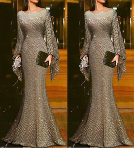 Women's Bodycon Long Dress Evening Cocktail Party Ball Gown Prom Formal Dress