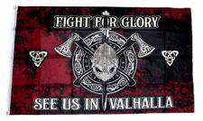 Flagge / Fahne Wikinger Fight for Glory Valhalla Hissflagge 90 x 150 cm