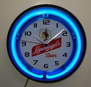 Leinenkugel beer logo neon wall clock