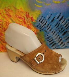 UGG Australia Katherine 1827 Open Toe Sandals Heels Womes Size 6 Brown