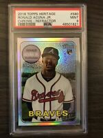 2018 Topps Heritage Ronald Acuna Jr. Chrome Refractor Rookie /569 PSA 9 Braves