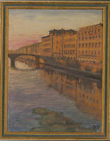 J.S. - Fine Mid 20th Century Oil, Grand Canal, Venice