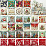 Christmas Style Pillow Case Square Cushion Pillow Cover Car Sofa Home Decor UK