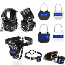 Digital Timer Hand&Ankle Cuffs Mouth Gag Chastity Panty Restraint Accessories SM
