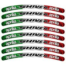 Aprilia SHIVER Italian flag wheel rim graphics
