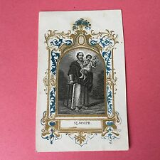 Image Pieuse St Joseph XIXè HOLY CARD 19thC Santino