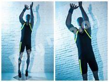 Male Fiberglass Egghead Athletic style Mannequin Dress Form Display #Mz-Hef66Eg