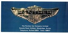 PANTHER 1979-80 UK Opuscolo Vendite sul Mercato PIEGA LIMA j72 DE VILLE