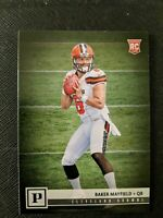 2018 Panini Football Baker Mayfield VERY LIMITED RC ROOKIE CARD #308 BROWNS.