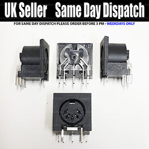 🔥 1x PCB DIN5 Panel Mount Female Connector DIN 5-Pin Jack DS-5-01 MIDI