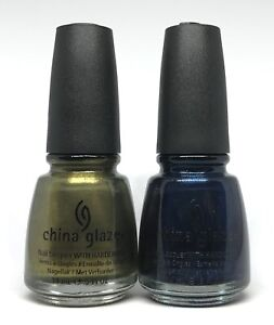 China Glaze Nail Polish Peace On Earth 887 + Little Drummer Boy 888 Shimmer Dark